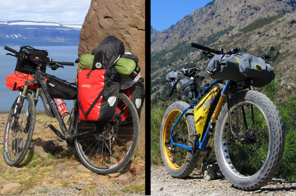 differenza tra cicloturismo e bikepacking, viaggi in bicicletta