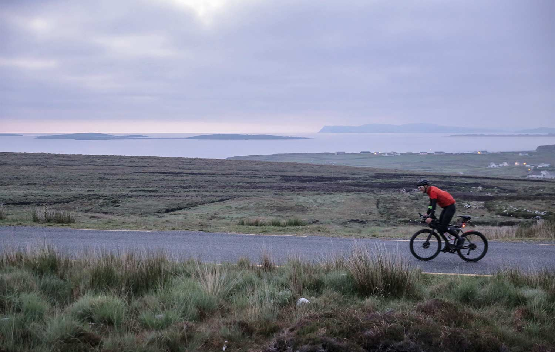 Bjorn-Lenhard-on-his-bike-preparing-the-TransAtlantic-Way-race
